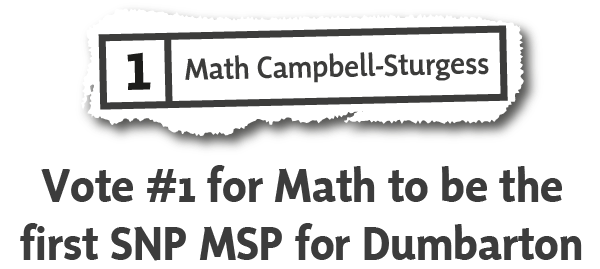 Vote Math Campbell-Sturgess for Dumbarton
